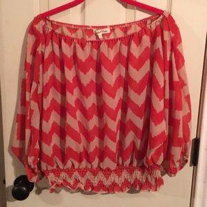Chevron sheer blouse
